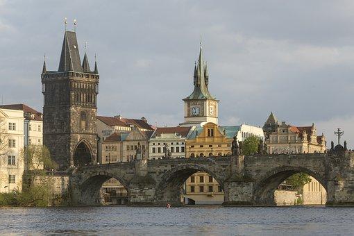 Prague, Czech Republic, Charles Bridge, Praha, Bridge