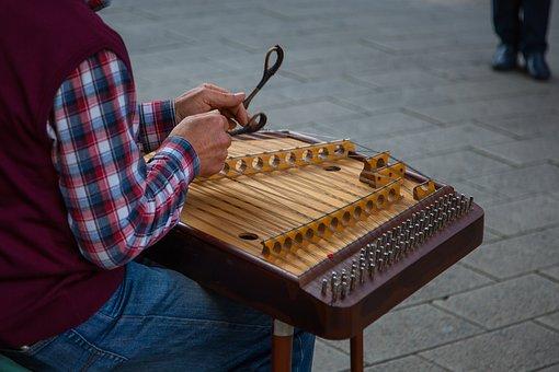 Cimbalom, Dulcimer, Stringed Instrument, Street Music