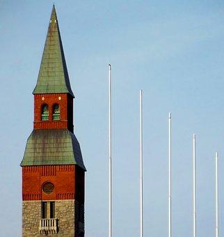 Building, Tower, Flagpole, Sky, Helsinki, Finnish