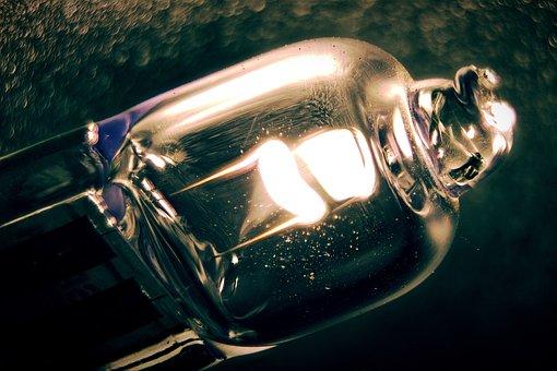 Macro, Contrast, Reflection, Lamp, Light Bulb, Hell
