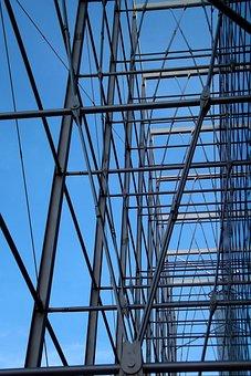 Building, Facade, Steel, Box, Helsinki, Finnish, Blue
