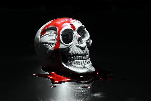 Skull, Halloween, Horror Movie, The Fear, Murder, Blood