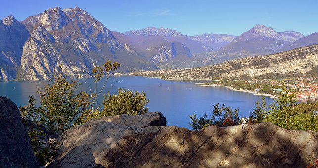 Landscape, Lake, Garda Nord, Italy, Mountain