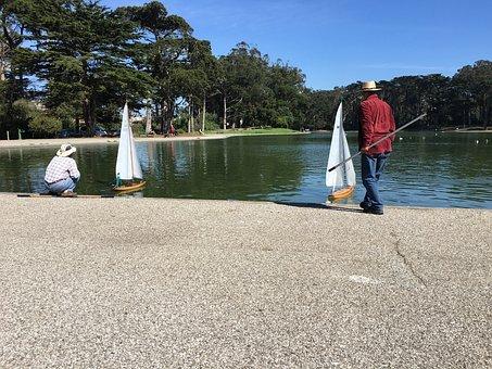Boats, Lake, Golden Gate Park, San Francisco