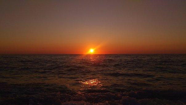 Lefkada, Sunset, Sea, Ionian Sea