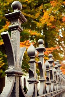 Fence, Autumn, Nature, Cast Iron, Craft, Arts Crafts