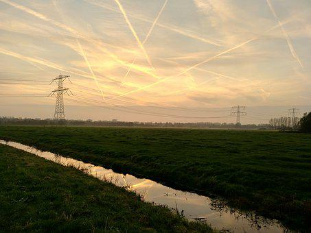 Sky, Nice, Landscape, Calm, Sunset, Blue, Channel