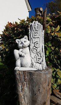 Cat, Animal, Sculpture, Figure, Stone Figure, Input