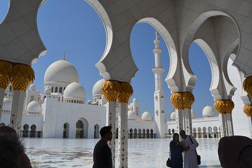 Abu Dhabi, Mosque, Sheikh Zayed, Dubai, Tour