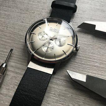Watches, Technical, Design, Time, Black, Precision