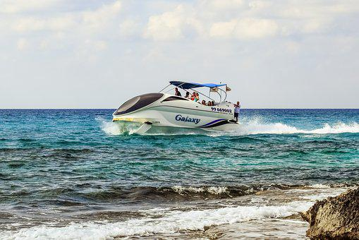 Speed Boat, Sea, Waves, Tourism, Vacation, Fast, Vessel