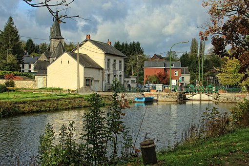 Ecluse, Channel, Water, Boat, Belgium