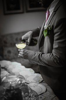 Champagne, Drink, Wedding, Formal, Flower, Alcohol