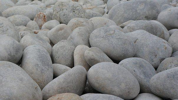 Stones, White, Stone, Nature, Structure, Background