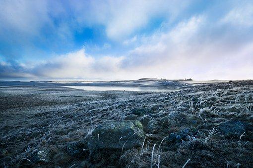 Buron, Landscape, Gel, Winter, Aubrac