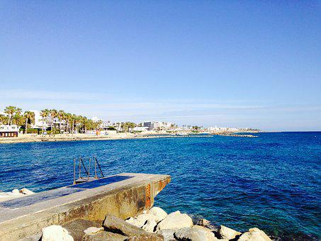 Cyprus, Sea, Mediterranean, Water, Vacation, Blue