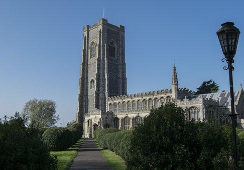 Church, Lavenham, Suffolk, Churchyard, Religion