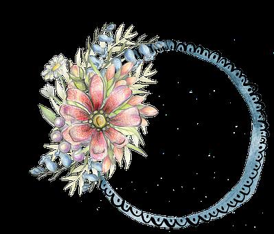 Floral, Frame, Template, Decoration, Embellishment