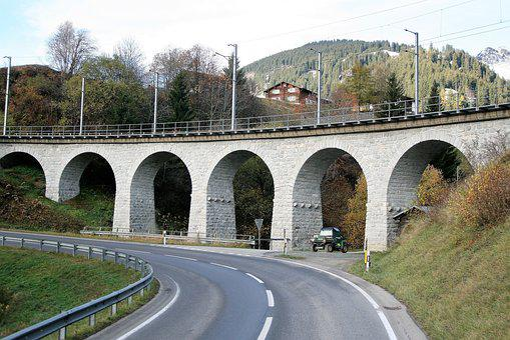 Bridge, Railway, Fall Mountains, Hiking Trails