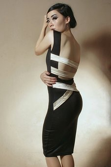 Fashion, Backless, No Bra, Girl, Asian, Pretty, Back