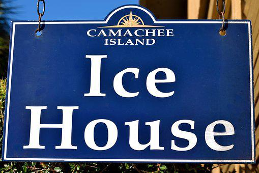 Ice, Ice House, Sign, Cold, Freeze, Ice Cubes, For Sale