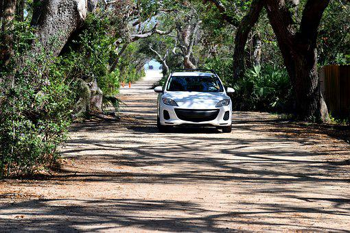 Car, Driving, Dirt Road, Roadway, Landscape