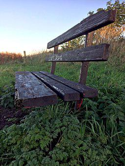 Bench, Lonely, Alone, Loneliness, Sad, Scene, Sitting