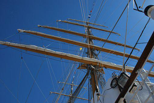 Maritime, Ship, Sailing Vessel, Three Masted, Masts