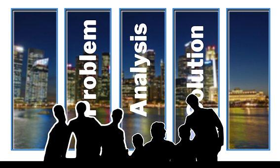 Meeting, Problem, Analysis, Solution, Businessmen, Team