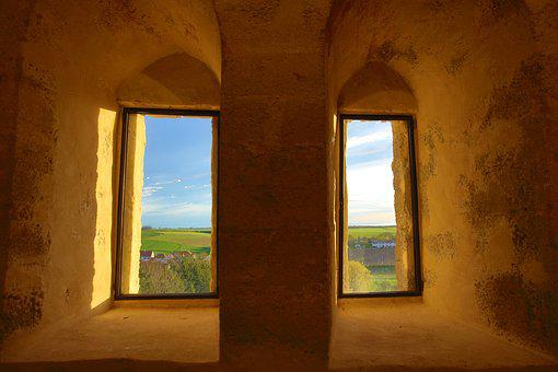 Alcove, Keep, View, Window, Castle, Tower