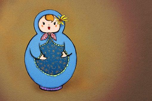 Babushka, Babushka Doll, Doll, Traditional, Souvenir