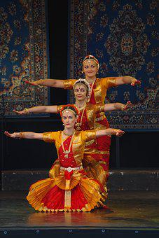 Dance, Indian, Red, Costume, Ethnic, Dancing, Oriental