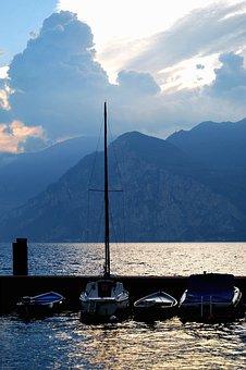 Gewitterstimmung, Lago Di Como, Lake, Clouds