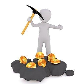 Bitcoin, Btc, Eth, Crypto, Mining, Mine, Gold, 3dman