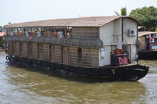 House-boat, Kerala, India