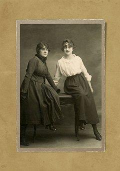 Lady, Girl, Woman, 1920, Portrait, Old, Fashion, Photo