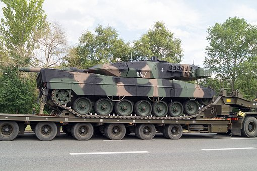 Tank, Leopard, Trailer, Army, Lowbed Trailer, Defense