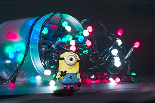 Minion, Lighting, Glass, Banana, Happy, Despicable
