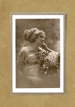 Lady, Old, Vintage, Collage, Beauty, Portrait, Fashion