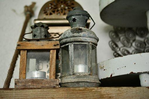 Lanterns, Old, Junk, Decoration, Flea Market, Old Stuff