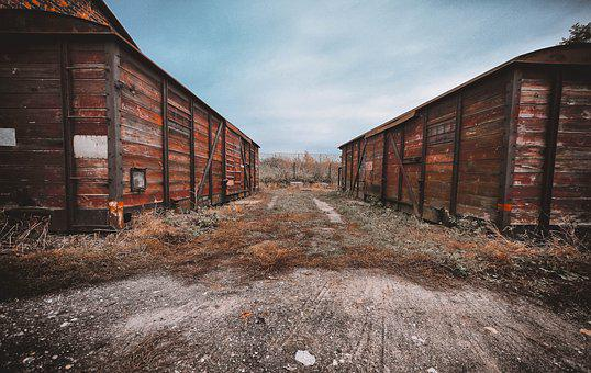 Package, Wagons, Old, Old Train, Transport, Monument