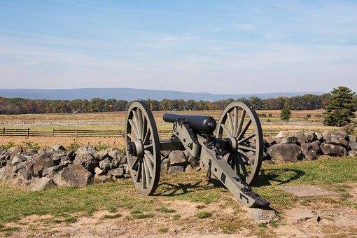 Gettysburg, Park, Canon, Pennsylvania, Civil, War