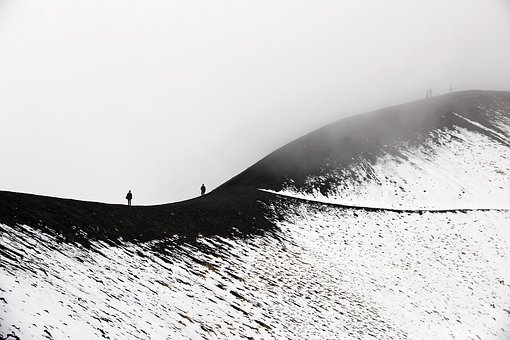 Etna, Sicily, Volcano, Italy, Mountain, Highland, Fog