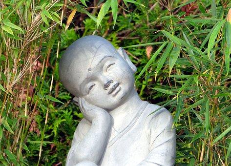 Monk, Meditation, Zen, Statuette, Wisdom, China