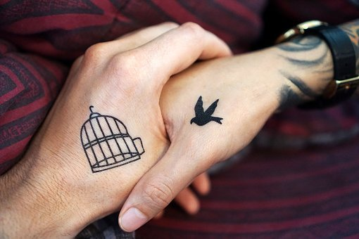 Tattoo, Hand, Hands, Couple, Love Each Other, Tattoos