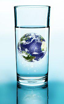 Glass, Drink, Water, Earth, Blue, Transparent, Globe