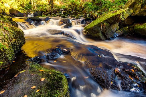 Valley Of Desolation, Cascade, Yorkshire, Bolton Abbey