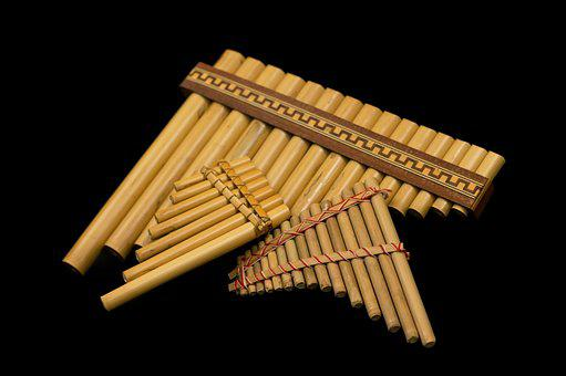Bamboo Flute, Back Background, Flute, Instrument, Music