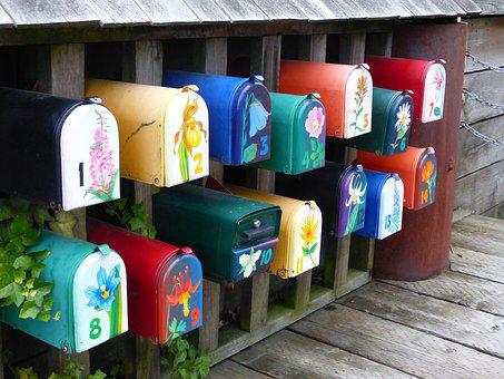 Mailboxes, Colorful, Mail, Message, Post, Communication