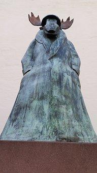 Frankfurt, Statue, Moose